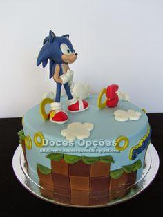 Bolo do sonic redondo Bolo Sonic, Cake, Desserts, Food, Cake Ideas, Decorating Cakes, Kids Part, Sweets, Creativity