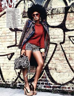 solange-knowles in Magazine -glamour-france...thats hot!!! Want the bag