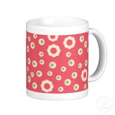 KRW Raspberry Lime Floral Coffee Mug