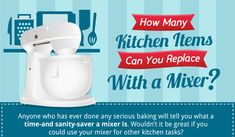 25 Kitchen Items You Can Replace With a Stand Mixer: A Visual Guide...I already know how much I love & use my mixer. This made me realize, I need to take better advantage of this amazing machine.