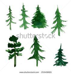 Pine Tree Border Stock Illustrations & Cartoons | Shutterstock