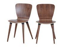 2 x Edelweiss Stühle, Walnuss und Schwarz