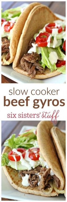 Slow Cooker Beef Gyros from SixSistersStuff.com | One of the most popular posts on the site.