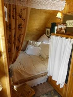 Like the idea of a curtain separating the sleeping area from the rest of the camper.