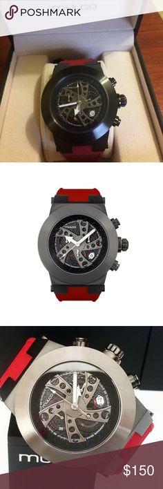 Mulco watch EVOL DACCAR SKU  MW3-14026-065 Display  Black racing pattern d2ed3cd20b7