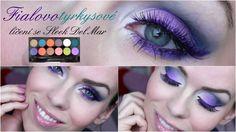 Líčení se Sleek Del Mar -  tyrkysovofialové pro zelené oči/ Turquoise-pu...