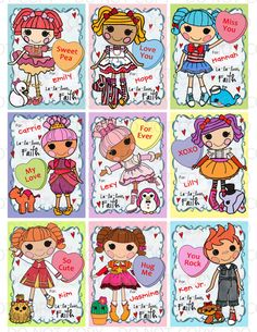 Printable DIY Personalized Button Doll Theme by onelovedesignsllc