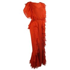 on bklyncontessa :: via regeneration : helen rose chiffon gown + bolero : 1970s