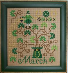 Celtic Cross Stitch, Simple Cross Stitch, Cross Stitching, Cross Stitch Embroidery, Cross Stitch Designs, Cross Stitch Patterns, St Patrick's Cross, Blackbird Designs, St Paddys Day