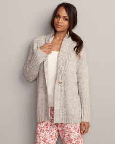 Ribbed Sleep Cardigan | Eddie Bauer