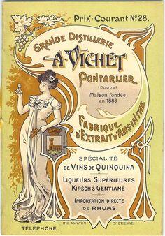 A Vichet Pontarlier Absinthe Distiller poster