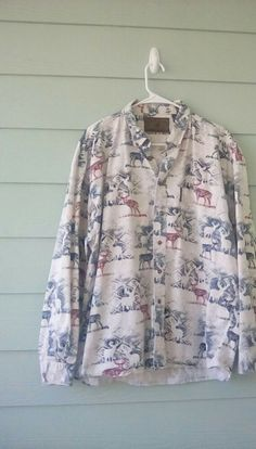 871314c9ba23 North River OutFitters Men's XL Shirt.Button Down Long Sleeve Deer Print # fashion #