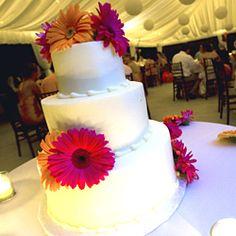 fall gerber daisy wedding cakes | WeddingChannel Galleries: Gerbera Daisy Wedding Cake