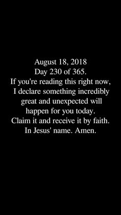 Im ready for it and claim it Lord Fear Quotes, Faith Quotes, Life Quotes, Qoutes, Religious Quotes, Spiritual Quotes, Positive Quotes, 365days, Gods Promises
