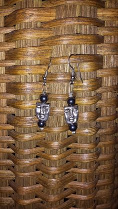 Faceless - Black - The profit from the sale of these earrings helps to rescue a victim of human trafficking AND money is contributed to eradicate poverty!