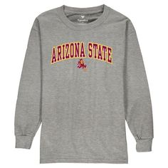 Arizona State Sun Devils Fanatics Branded Youth Campus Long Sleeve T-Shirt - Gray - $17.99