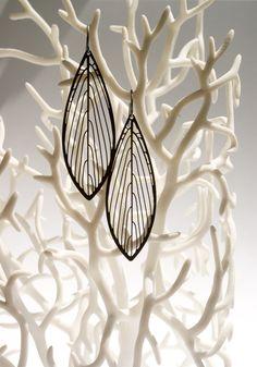 Parallel Earrings Leaf-shaped 3D Printed Earrings                                                                                                                                                                                 More