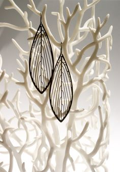 Parallel Earrings Leaf-shaped 3D Printed Earrings                                                                                                                                                                                 More