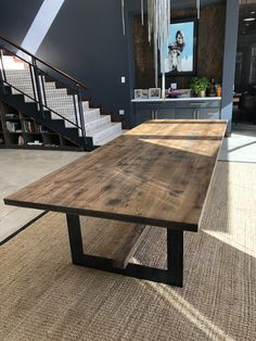 230 wood and steel tables ideas