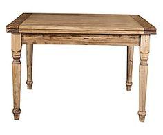 Tavolo allungabile in massello di tiglio Toscana naturale - 80x120x120 cm