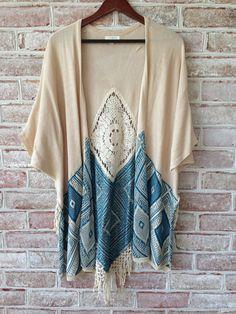 Boho Dream Catcher Kimono with crochet detail