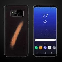 WUW Thermal Induction Fluorescent Color Changing TPU+PC Phone Case for Samsung Galaxy S8+ G955 - Black