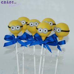 Cake Pops Minion - Grãos de Açúcar - Bolos decorados - Cake Design