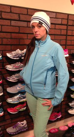Daydreaming in the Patagonia Adze jacket and Saucony Beanie.
