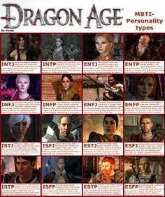 """Dragon Age Origins and 2 MBTI"" So I'm... Leliana?? I mean.. Okay.. But it feels like Zevran is more of an ENFP, or maybe Dorian from DA:I"