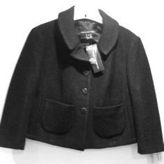 I just added this to my closet on Poshmark: NWT Black cropped wool jacket.. Price: $49 Size: 8