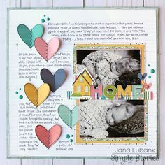 Layout from creative team member Jana Eubank using the Domestic Bliss collection