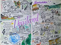 Thailand travel doodle art