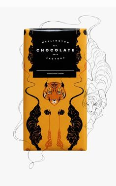 Gorgeous packaging design for Wellington Chocolate Factory  by Gina Kiel . Beautiful illustrations and colour palettes, love these and I ...