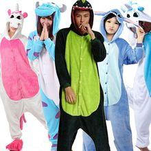 Amantes de Franela Unicornio Unisex Con Capucha Pijamas Adultos Cosplay ropa de Dormir Lindo de la Historieta Onesies Animal Kigurumis HoodiesFor Mujeres Hombres(China (Mainland))