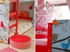 Olivia & Emma's Customized IKEA Castle Bed
