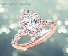 #engagement #ring #wedding #rose #gold #marquise