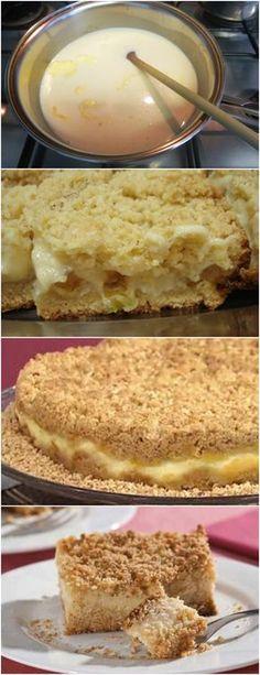 RECEITA MAIS QUE ESPECIAL..APRENDA A FAZER ESSA DELICIA!! VEJA AQUI>>>Em uma panela, misture o leite condensado, o leite, as gemas, ligeiramente batidas, e o amido de milho. #receita#bolo#torta#doce#sobremesa#aniversario#pudim#mousse#pave#Cheesecake#chocolate#confeitaria