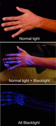 Blacklight tattoo ~ whether you like em or not, this is DEF one of the coolest tattoos I've ever seen