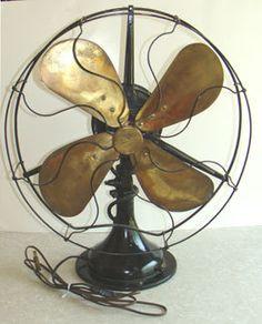 Vintage Black Oscillating Electric Fan Brass Blades CENTURY FAN CO 1900s #ebay