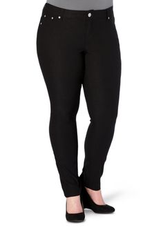 image of Plus Sateen Stretch Jegging