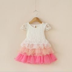 c6252184c71 2018 2015 Princess Babies Girls Lace Sleeve Ruffles Cake Party Dresses  Western Fashion Casual Sweet Kid Girl Dresses From Smartmart