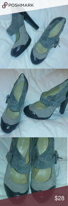 """Nine West High Heels 5"""" Leather Suede Shoes Sz 7 Nine West High Heels 5"""" Leather Suede Womens Shoes 7 M  Very good, clean condition.  Genuine leather and suede upper. Approx 5"""" heel. Fabulous find! Nine West Shoes Heels"""