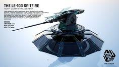 LE-103 Spitfire Heavy Laser Emplacement by Duskie360 on DeviantArt