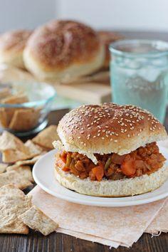 Vegetarian Farro Sloppy Joes - Cookie Monster Cooking