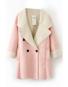 LUCLUC Pink Suede Boyfriend Coat - LUCLUC