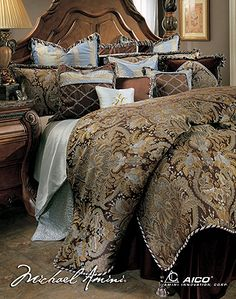 Portofino Luxury Bedding Sets Michael Amini Signature Top of Bed Series