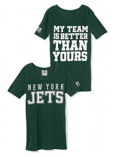 6d8c965c2 OWNED  lt 3 New York Jets Athletic Tee - Victoria s Secret PINK® -  Victoria s