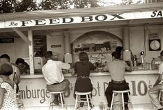 outdoor lunch counter 1938