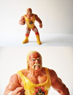 """This is a collectible 12'' Action Figure featuring the WWF Megastar """"The Hulkster"""" Hulk Hogan made by Hasbro Toys in 1990."""