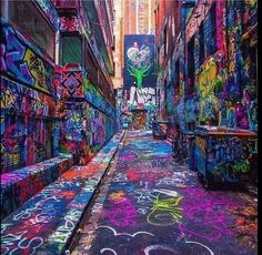 Hosier Lane Street by Ray of Melbourne. One of the most popular activities for both tourists and locals to do in Melbourne, is to take a walk on Hosier Lane Street and admire the graffiti that covers almost the entire space. Urban Street Art, Best Street Art, Urban Art, Amazing Street Art, Street Art Graffiti, Urban Graffiti, Graffiti Artwork, Art Du Monde, Visit Melbourne